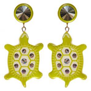 Ohrring 2-teilig, Schildkrötenmotiv, 6 cm, 169 Euro