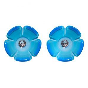 Blumenohrring, hellblau, 98 Euro