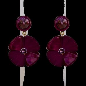Blumenohrring 2-teilig, fuchsia, 4,8 cm, 169 Euro