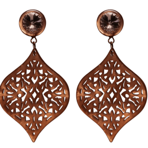 Großer Tropfenohrring, bronze, 7 cm, 169 Euro
