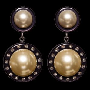 Perlenohrring, schwarz-perlmutt, 4,5 cm, 169 Euro