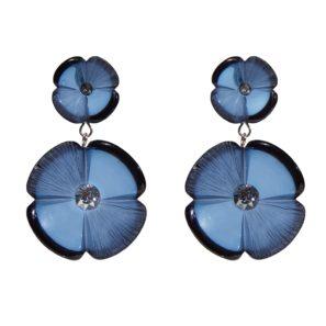 Kugelohrring 2-teilig, blau, 4,8 cm, 169 Euro