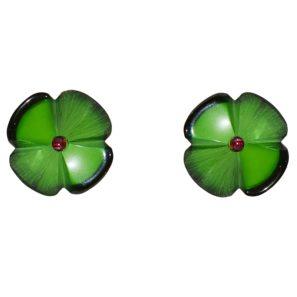Blumenohrring, klein, grün, 2 cm, 79 Euro