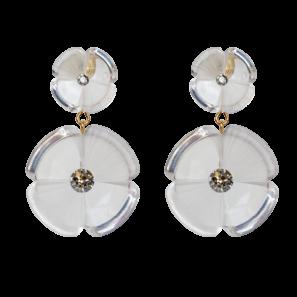 Blumenohrring 2-teilig, transparent, 4,8 cm, 169 Euro
